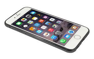 Eloja® iPhone 6 Plus Hülle TPU Cover Case Bumber Metall Optik Schwarz