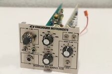 Coulbourn Instruments S75-01 High Gain BioAmplifier with BandPass Filter