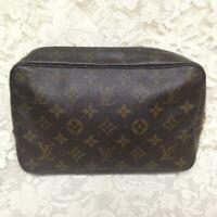 Authentic Louis Vuitton, Mono Brown, Medium 23, Cosmetic Pouch 9in x 6in x 2.5in