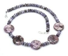 Natural Rare Sugilite Necklace 925 Sterling Silver Beads Ct 184 Birthday Gift us