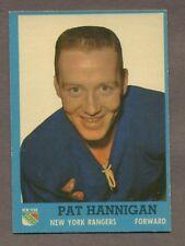 1962-63 Topps Hockey No. 64 Rangers Pat Hannigan Ex