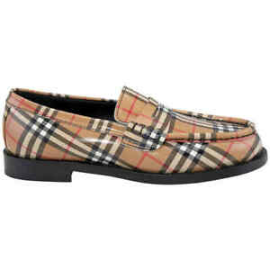 Burberry Men's Bedmoore Small Check Leather Loafers