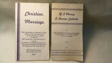 1947 Marriage Pamphlets - Federal Council of the Churches of Christ in America