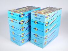 """Ho Scale Lot of 10 - 7.5"""" Athearn Trains Empty Blue Box Car Boxes Used"""