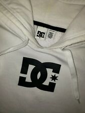 Womens dc brand white/black long sleeve pull over hoodie sz small
