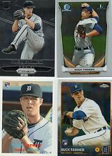 4-buck farmer detroit tigers rc card lot 2015 prizm 186 archives 17 topps chrome