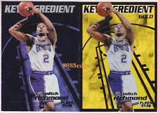 (2) 1997-98 FLEER KEY INGREDIENT GOLD: MITCH RICHMOND #11 ACETATE INSERT LOT