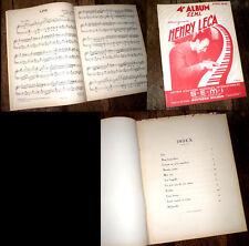 4ème album S.E.M.I arrangements Henry Leca piano solo 1947 piano jazz swing