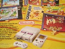 Cereal Box 1994 RAISIN BRAN Looney Tunes SUPER NINTENDO Game Boy SNES Daffy BUGS