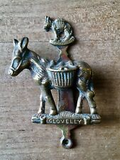 Vintage Brass Door Knocker Small Clovelly Donkey Cast Brass Antique