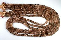 N-0003 Andalusite Natural Gemstone Rondelle Faceted Beads Necklace Wholesale