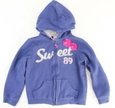 CARTERS Girls Blue SWEET Zip Hooded Sweatshirt Size 6