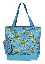 Jenzys Frog Prince Womens Travel Tote Bag Purse Handbag Shopping Gym School