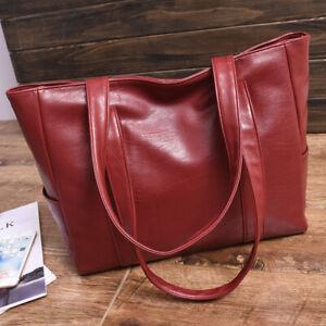 Designer PU Leather Handbag Large Capacity Shoulder Tote Bag Office Lady Women