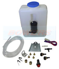 UNIVERSAL 12v WINDSCREEN WASHER BOTTLE KIT MOTOR PUMP JETS CLASSIC CAR MINI