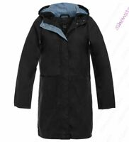 Womens Rain Mac Waterproof Long Raincoat Ladies Jacket Size 8 10 12 14 16 Grey
