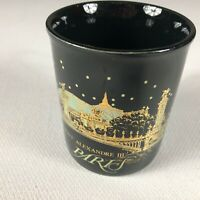 Pont Alexandre III Paris Coffee Mug VTG Cup France Black Gold England Made UK