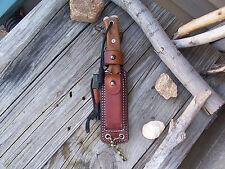 TOPS Knives LF Custom Leather Survivor Sheath BOB Fieldcraft