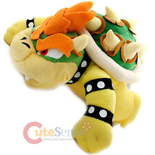 "Super Mario Bros Bowser Plush Doll  King Koopa Soft Stuffed Toy Figure-9"" Large"