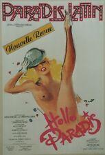 """PARADIS LATIN : HELLO PARADIS"" Affiche originale entoilée BRENOT 1987 44x64cm"