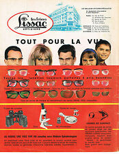 PUBLICITE ADVERTISING 044  1963  LISSAC    lunettes tout pour la vue