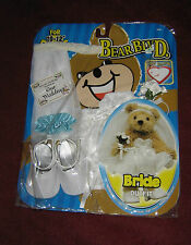 STUFFED BEAR WEDDING OUTFIT BY FIBRE CRAFT - FITS 10-12 INCH TALL BEARS