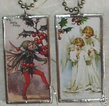 CHRISTMAS HOLLY FAIRY / ANGELS PENDANT / NECKLACE