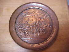RARE J Heichlinger Salbeist 11 Copper Art Collectors Plate Germany Early 1900s
