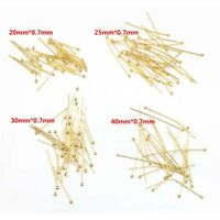 50pcs Gold Tone Stainless Steel Ball Head Pins for Jewelry Making 20/25/30/40mm