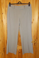 M&S grey neutral stone taupe smart tailored office suit trousers 14 Medium 42