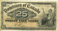 Canada 25 Cents Currency Dominion Banknote 1900