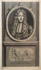 Gravure XVIIIe, James Stuart, Audran, King of England, Engraving, Radierung 18th