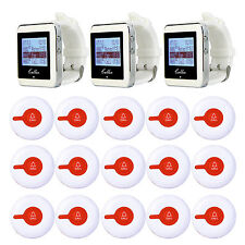 Restaurant Equipment Calling Paging System 15*Call Button Pager+3 Watch Receiver