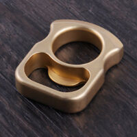EDC Werkzeug Outdoor Tool Brass Self-defense Ring Solid Schlüsselanhänger Neu