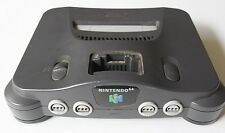 Nintendo 64 Console Charcoal Grey TESTED OEM Gray Official Retro Super Fast Ship