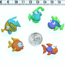 Novelty Buttons Colourful Fish Embellishment Scrapbook Quilting #427