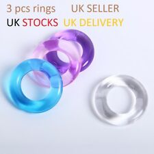 3pc BIGO PENIS Ring STOP Premature Ejaculation Erectile Disfunction erection aid