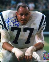 Jim Parker HOF 73 Autographed Baltimore Colts 8x10 Photo
