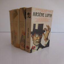 Arsène LUPIN 4 livres Maurice LEBLANC Hachette Gallimard 1960 1989 France
