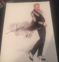 MICHAEL FLATLEY SIGNED 8X10 PHOTO LORD OF DANCE W/COA+PROOF RARE WOW