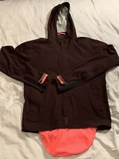 Rapha Hooded Raincoat Jacket  L Burgundy