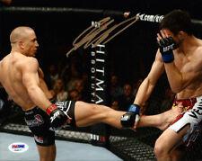 GEORGES ST. PIERRE AUTHENTIC AUTOGRAPHED SIGNED 8X10 PHOTO UFC MMA PSA/DNA 72631
