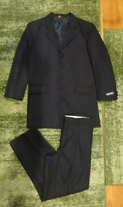 Z. CAVARICCI BLACK FORMAL SUIT JACKET & PLEATED PANTS BOYS 12 REGULAR NEW NWT