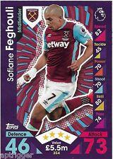 2016 / 2017 EPL Match Attax Base Card (354) Sofiane FEGHOULI West Ham United