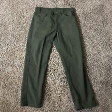Vintage Levi's Sta-Prest Big E Black Tab Green Jeans Waist 33 x Inseam 28