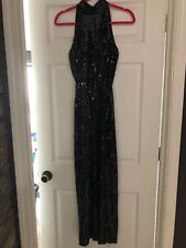 Cache Black Sequin Prom/Formal Dress Size 4