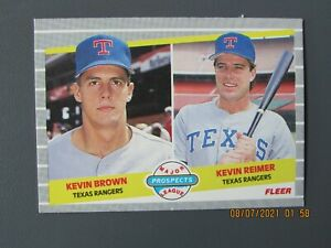 1989 FLEER #641 KEVIN BROWN MAJOR LEAGUE PROSPECTS ROOKIE NM-MT MINT RC