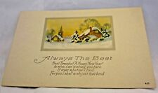 """Vintage 1900's """"Always The Best Happy New Year"""" Post Card Series 4 01"""
