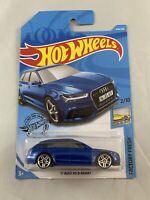 Hot Wheels - Audi RS6 RS 6 Avant (2019 Blue) - Long Card - BOXED SHIPPING