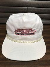 Vintage 1989 Star Trek V The Final Frontier Snapback Hat Movie Film Release Cap